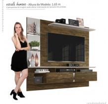 Painel Para TV 55 Polegadas Intense 1.8 Lukaliam Canela/Off White