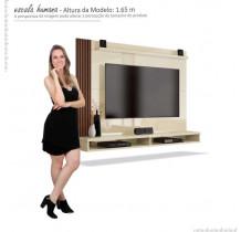 Painel Para TV até 50 Polegadas Dijon EDN Off White/Naturale