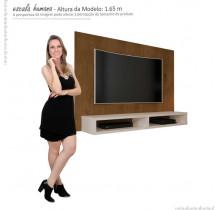 Painel Para TV 55 Polegadas 5006 JB Bechara Caramelo/Off White