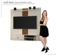 Painel Para TV 50 Polegadas 5024 JB Bechara Pérola/Caramelo