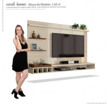 Painel Para Sala TV 55 Palladium 1.8 EDN Off White