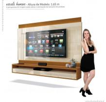 Painel Suspenso Para TV até 60 Pol Savoy 1.6 EDN Off White/Cedro Naturale