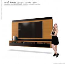 Painel Suspenso Para TV até 75 Pol Savoy 2.0 EDN Cedro/Preto