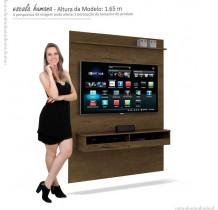 Painel Suspenso Pequeno Para TV até 50 Pol Torino EDN Nogal
