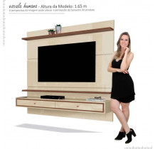Painel Para TV 58 Polegadas Treviso 160 EDN Off White/Naturale