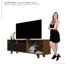 Rack Bancada Para TV 60 Polegadas 5054 JB Bechara Caramelo/Preto