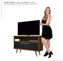 Rack Pequeno Para TV 42 Polegadas 5707 JB Bechara Caramelo/Preto