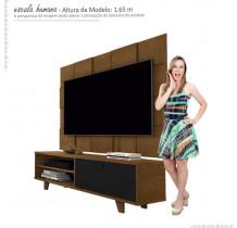 Rack 5959 Com Painel 5095 Para TV Até 55 JB Bechara Caramelo/Preto