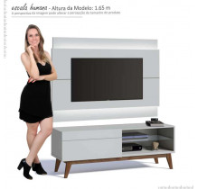 Rack com Painel Para TV Branco Imcal Classic 1G 1.4 Com LED