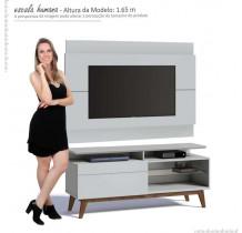 Rack com Painel Para TV Branco Imcal Classic Mais 1G 1.4
