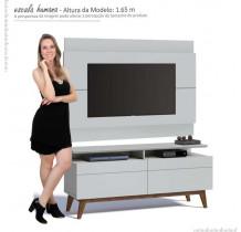 Rack com Painel Para TV Classic Branco Imcal Mais 2G 1.4