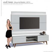 Rack com Painel Para TV Branco Imcal Classic 2G 1.8 Com LED