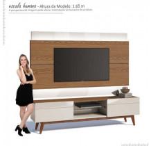 Rack com Painel Para TV Classic 2G 1.8 Com LED Imcal Freijo/Off White