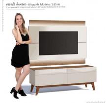 Rack com Painel Para TV Off White/Freijo Imcal Classic 2G 1.4 Com LED