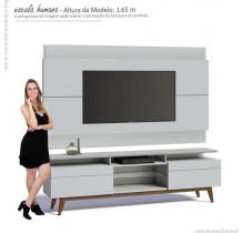 Rack com Painel Para TV Classic Mais 2G 1.8 Imcal Branco