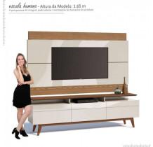 Rack com Painel Para TV Classic Mais 3G 1.8 Imcal Off White/Freijo