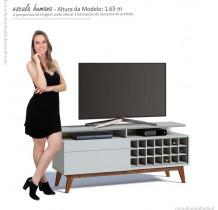 Rack Pequeno TV 55 Polegadas Classic Mais AD 1.4 Imcal Branco