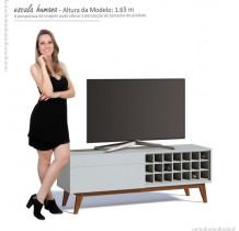 Rack Pequeno TV 55 Polegadas Classic AD 1.4 Imcal Branco