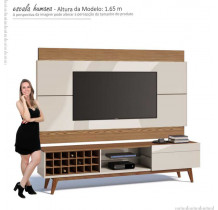 Rack com Painel Para TV Classic AD 1.8 Imcal Off White/Freijo