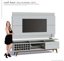 Rack com Painel Para TV Branco Imcal Classic AD Mais 2.2