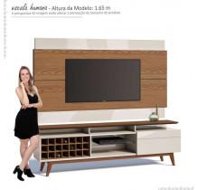 Rack com Painel Para TV Classic Mais AD 1.8 Imcal Freijo/Off White