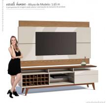 Rack com Painel Para TV Classic Mais AD 1.8 Imcal Off White/Freijo
