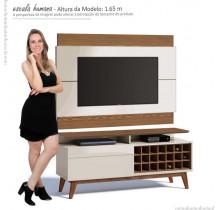 Rack com Painel Para TV Classic Mais AD 1.4 Imcal Off White/Freijo