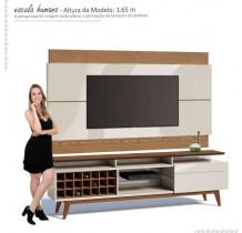 Rack com Painel Para TV Classic AD Mais 2.2 Imcal Off White/Freijo