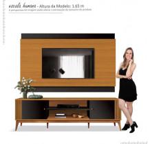 Rack Com Painel Legacy 2.0 Para TV 75 Polegadas EDN Preto/Cedro
