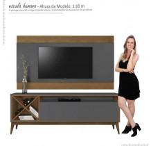 Rack Com Painel Para TV 65 Pol Merlot 180 EDN Grafite/Naturale