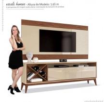 Rack Com Painel Para TV 65 Pol Merlot 180 EDN Off White/Naturale