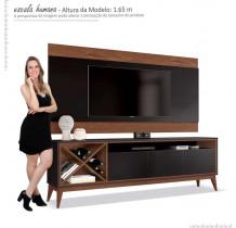 Rack Com Painel Para TV 65 Pol Merlot 180 EDN Preto/Naturale