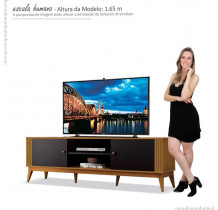 Rack Legacy 1.6 Para TV 60 Polegadas EDN Cedro/Preto