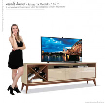 Rack Sala Para TV até 65 Polegadas Merlot 180 EDN Off White/Naturale