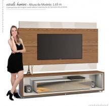 Rack Opera Espelho com Painel Para TV Classic 2.2 Imcal Freijo/Off White