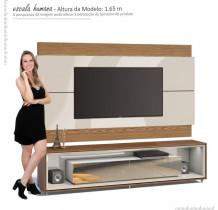 Rack Opera Espelho com Painel Para TV Classic 2.2 Imcal Off White/Freijo