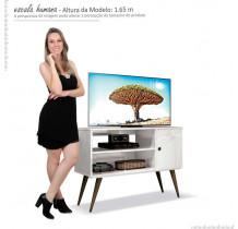 Rack Retrô Pequeno Para TV 37 Reale EDN Branco