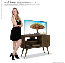 Rack Retrô Pequeno Para TV 37 Reale EDN Nogal