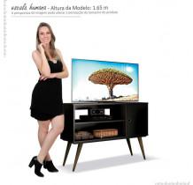 Rack Retrô Pequeno Para TV 37 Reale EDN Preto
