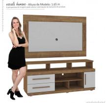 Rack Torino com Painel TV Gênesis Mirarack Canela/Off White