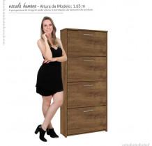 Sapateira 4 Portas Basculante Anne Mirarack Canela