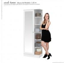 Sapateira 01 Porta de Espelho Lisboa Patrimar Branco