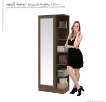 Sapateira 01 Porta de Espelho Lisboa Patrimar Imbuia