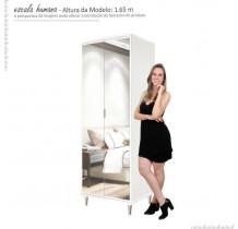 Sapateira 2 Portas de Espelho Prada Imcal - Branco
