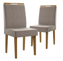 Cadeiras para Sala de Jantar (2 unidades) Creta Lukaliam Canela/Titânio
