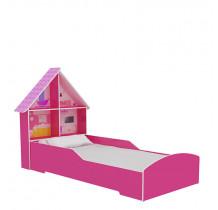 Cama Solteiro Meninas Casinha Gelius Pink Plock