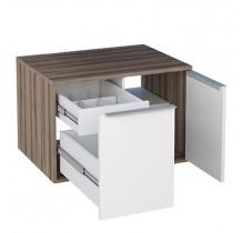 Módulo Suspenso Para Banheiro Arati 60 Cozimax Branco/Tamarindo