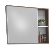 Espelho Para Banheiro Madeira Caeté/Moema 60 Cozimax Branco/Tamarindo