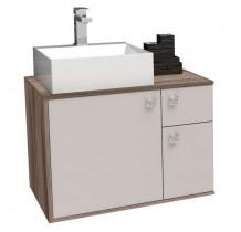 Gabinete de Banheiro Caeté 60 com Cuba Cubo Cozimax Nudi/Tamarindo