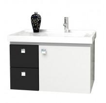 Gabinete Para Banheiro Madeira Moara 60 Cozimax Branco/Preto